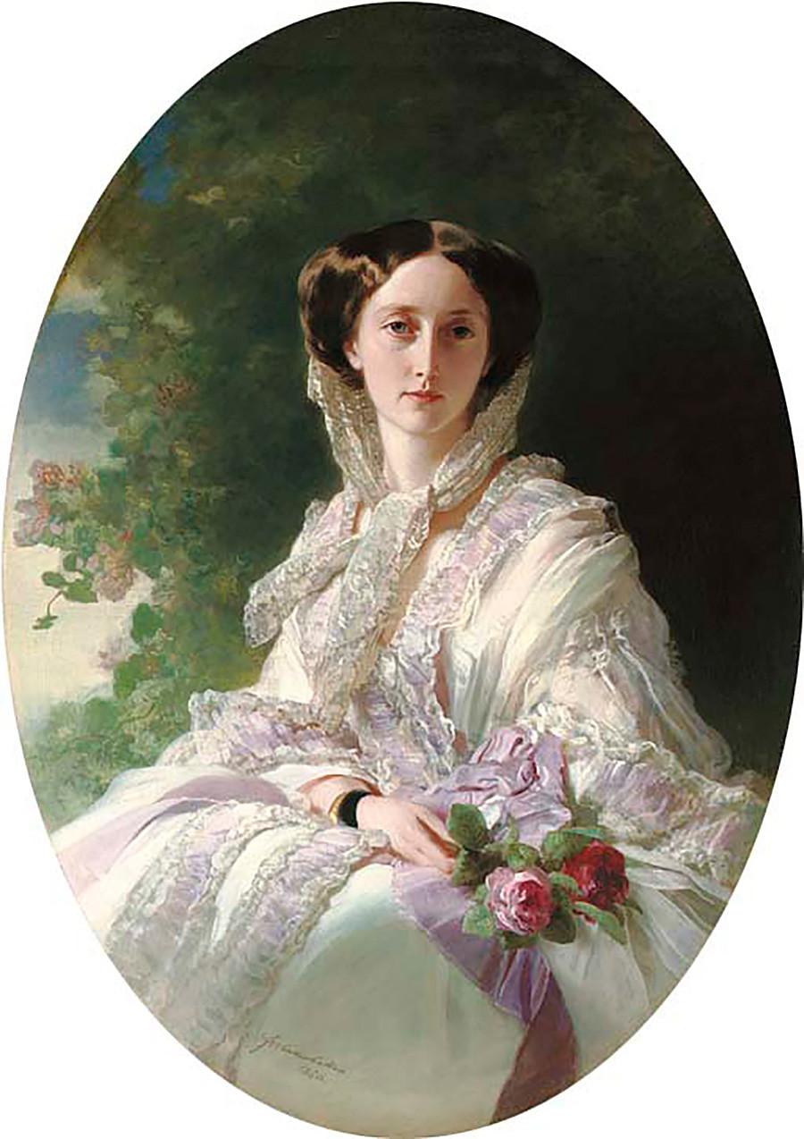 La principessa Olga von Württemberg ritratta da Franz Xaver Winterhalter (1805–1873)