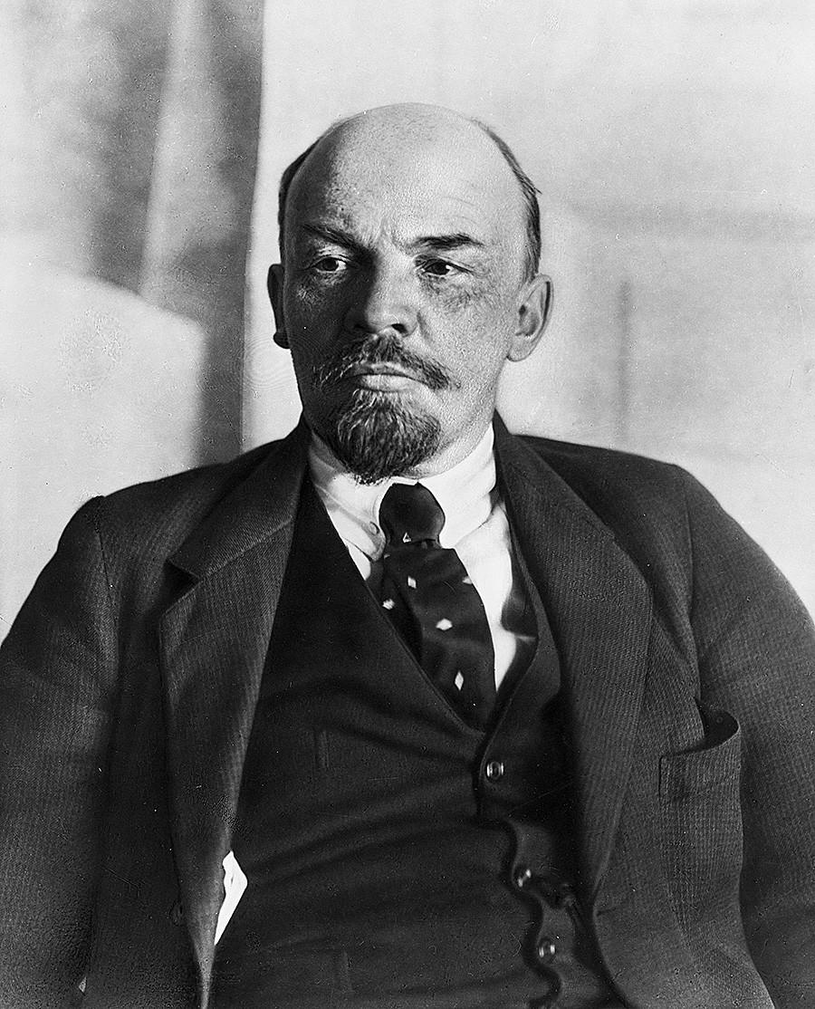 ウラジーミル・レーニン、1918年