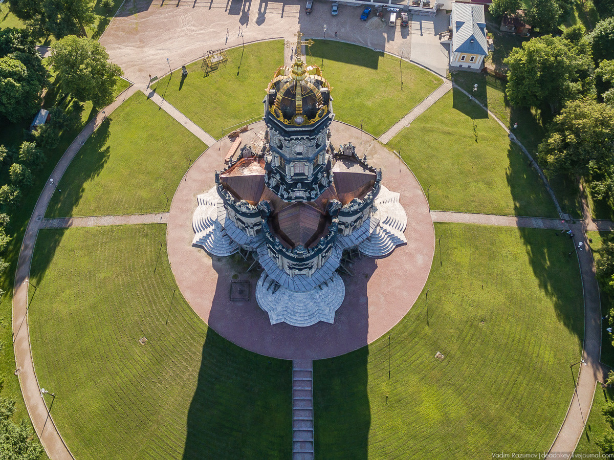 """Kirche der Ikone der Muttergottes """"Das Zeichen"""" in Dubrowizy, Region Moskau"""