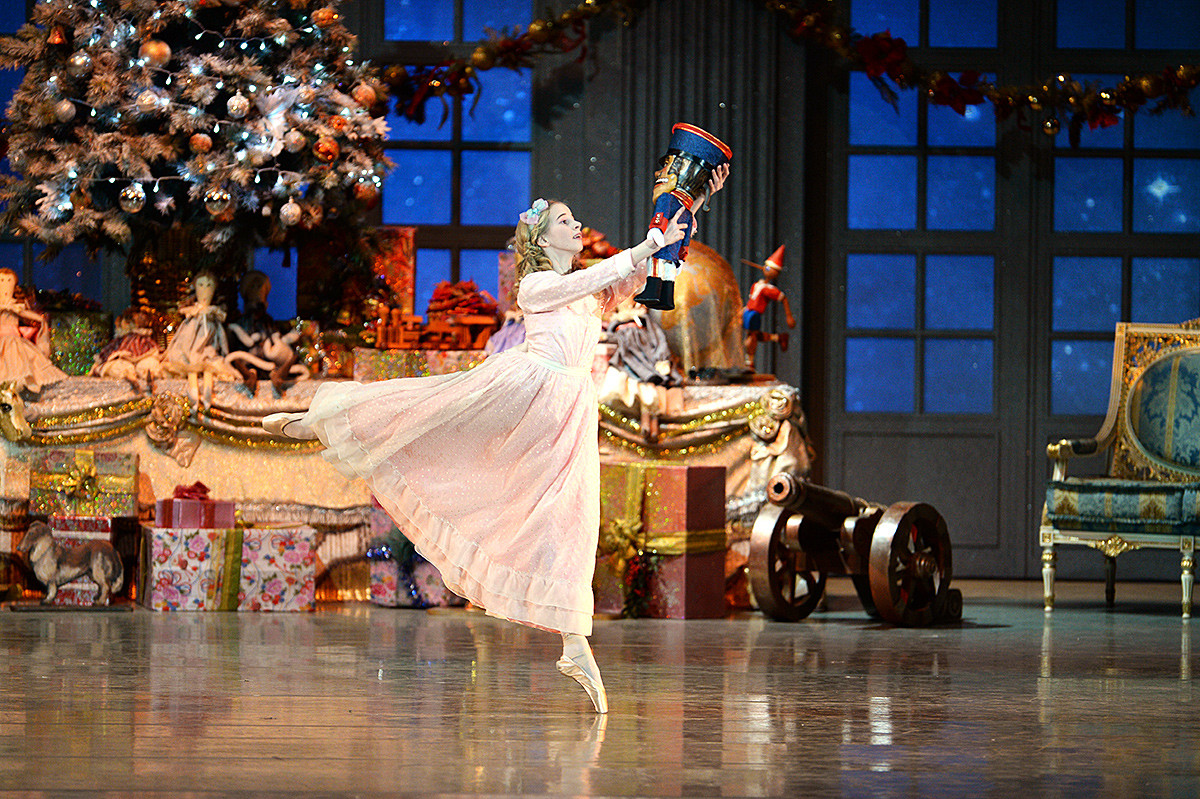 A scene from Pyotr Tchaikovsky's The Nutcracker choreographed by Igor Zelensky for the Novosibirsk Opera and Ballet Theater.