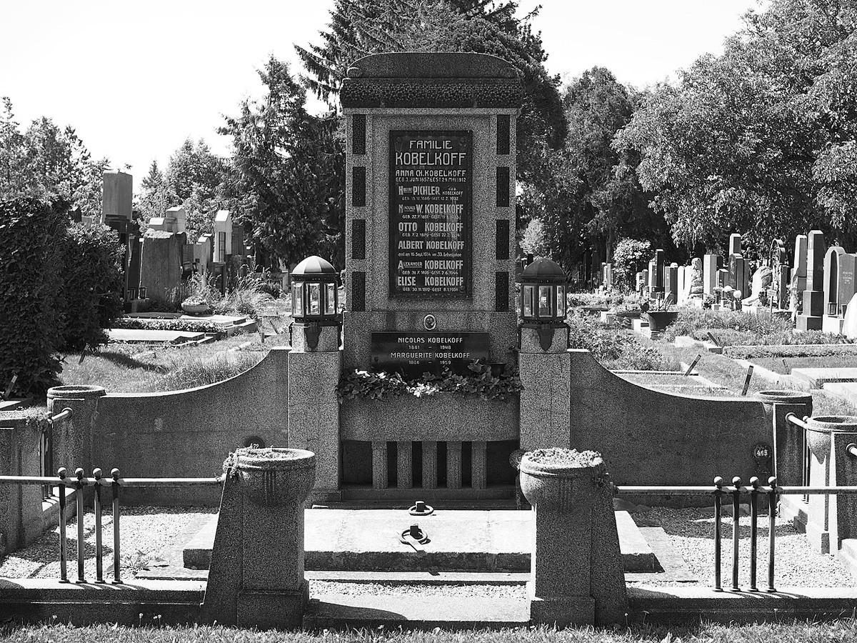 La tombe de la famille Kobelkoff au cimetière central de Vienne