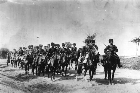 Одред руских козака 1914. године.
