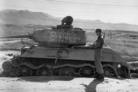 T-34-85 en Corea, 1950.