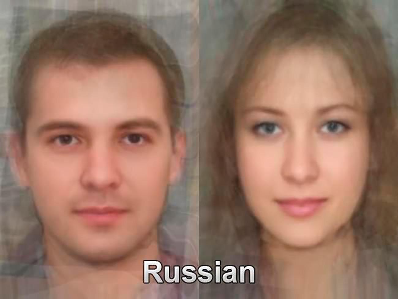 平均的なロシア人女性(右側)