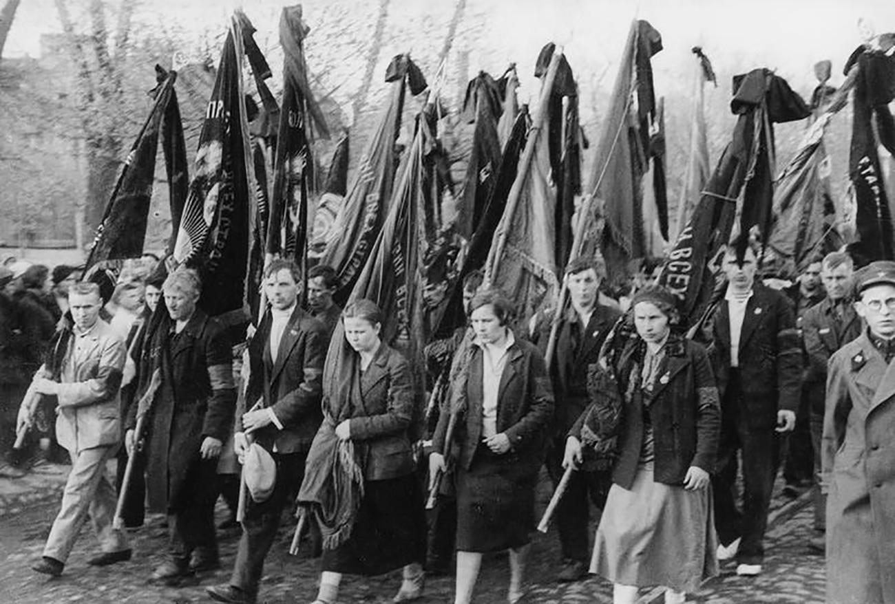 Погребение на загиналите при катастрофата на АНТ-20