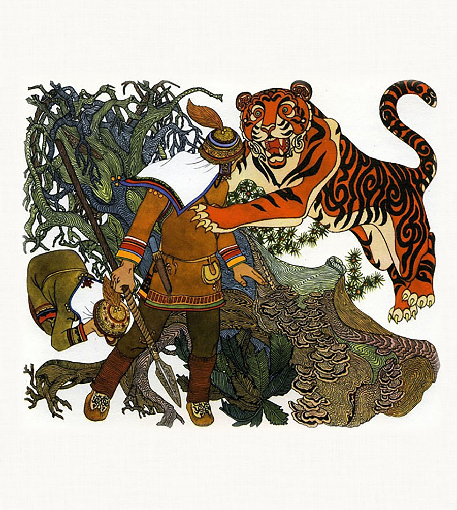 Tiger man from 'Amur tales'