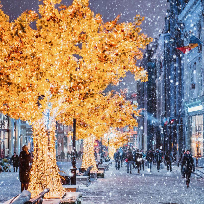 Божик е периодот во кој Москва се покажува во најубавото светло.