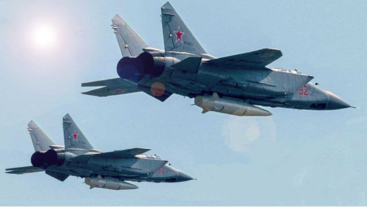 Ловци-пресретачи МиГ-31К наоружани хиперзвучним ракетама
