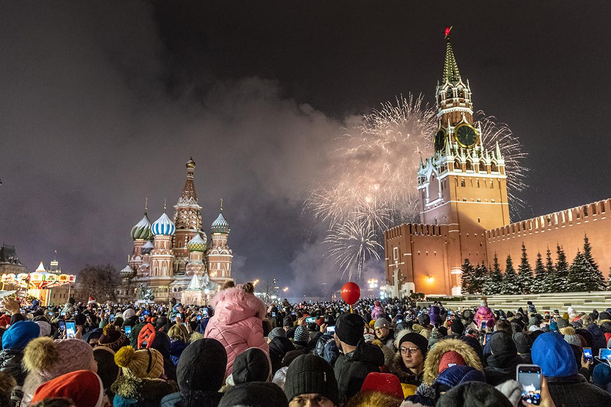 Новогодняя ночь на Красной Площади