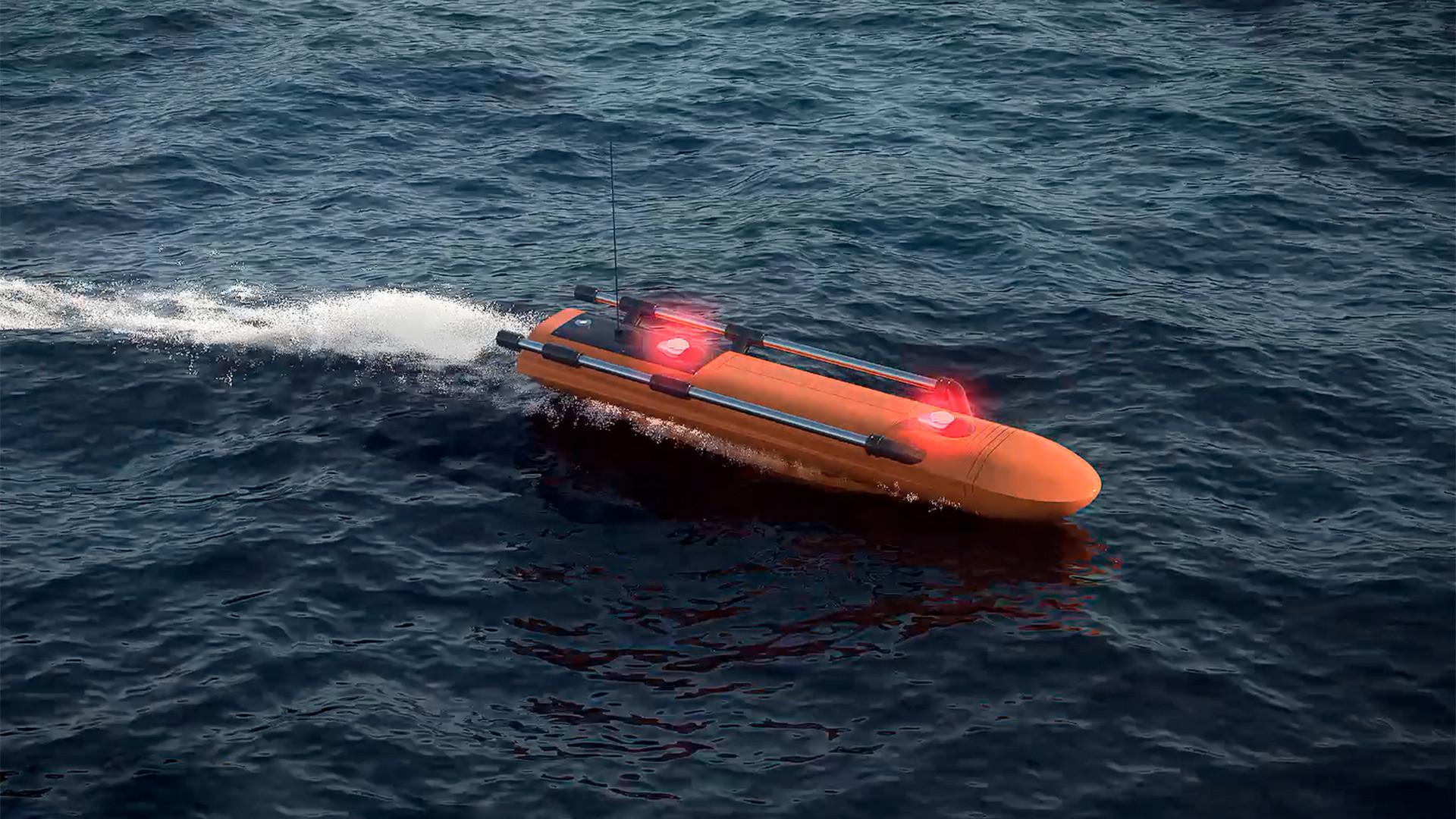 """Avión teledirigido de búsqueda y rescate, llamado """"Aurora"""""""