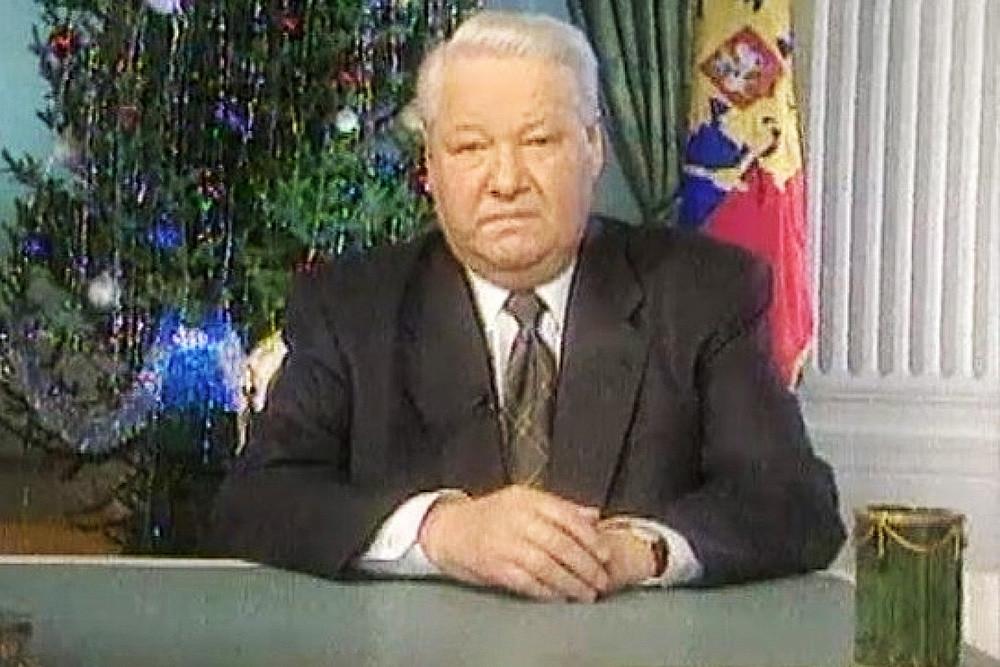 Борис Јељцин подноси оставку уочи нове 2000. године.