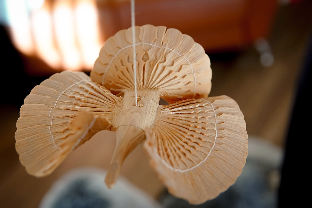 A wooden souvenir - 'the bird of happiness'