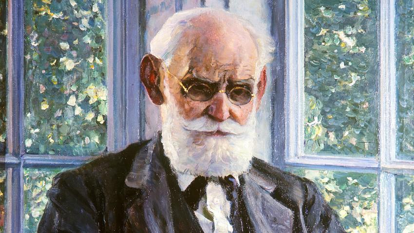 Портрет на Иван Павлов от Михаил Нестеров. Държавният руски музей. Репродукция.