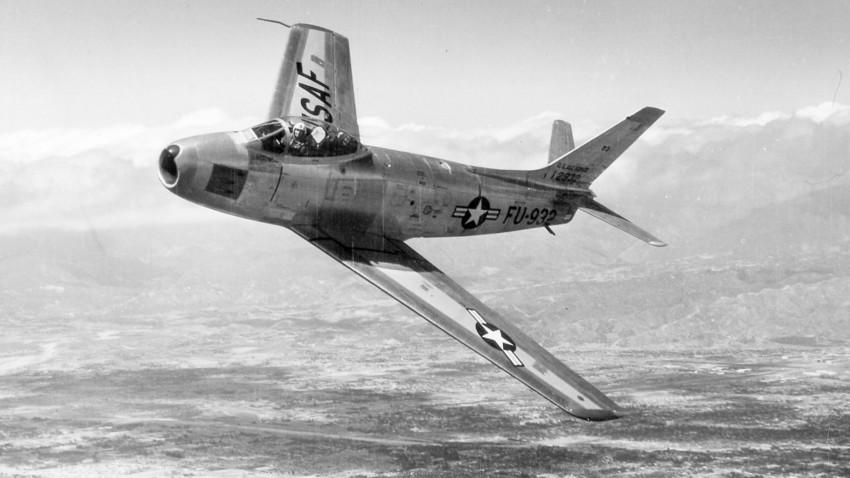 F-86F Sabre jet, 1953.