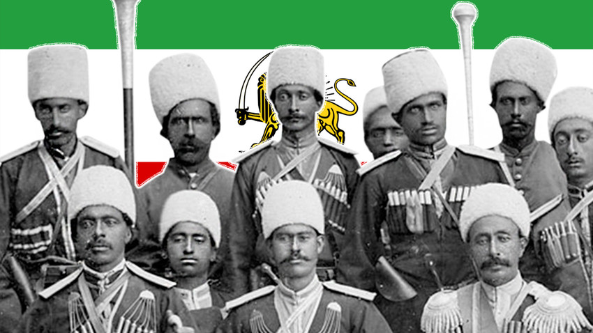Časnici Perzijske kozačke brigade