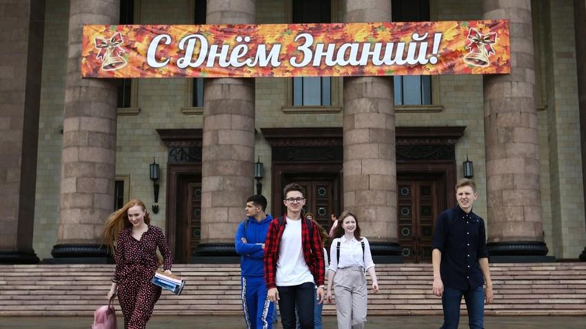 Hari pertama masuk kuliah di Universitas Negeri Moskow (MGU), September 2019.