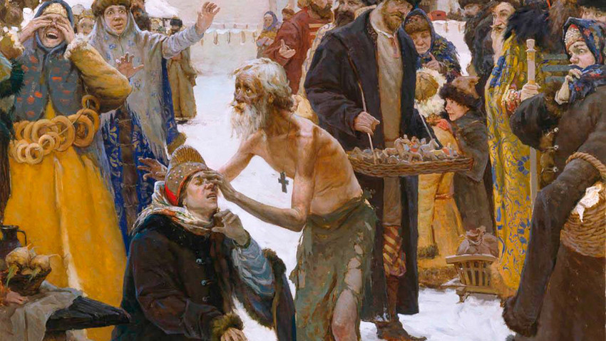 """St. Basil the Blessed, Moscow miracle worker"" by Vitaliy Grafov, 2006"