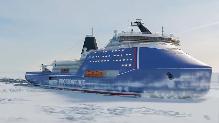 原子力砕氷船「リーダー」