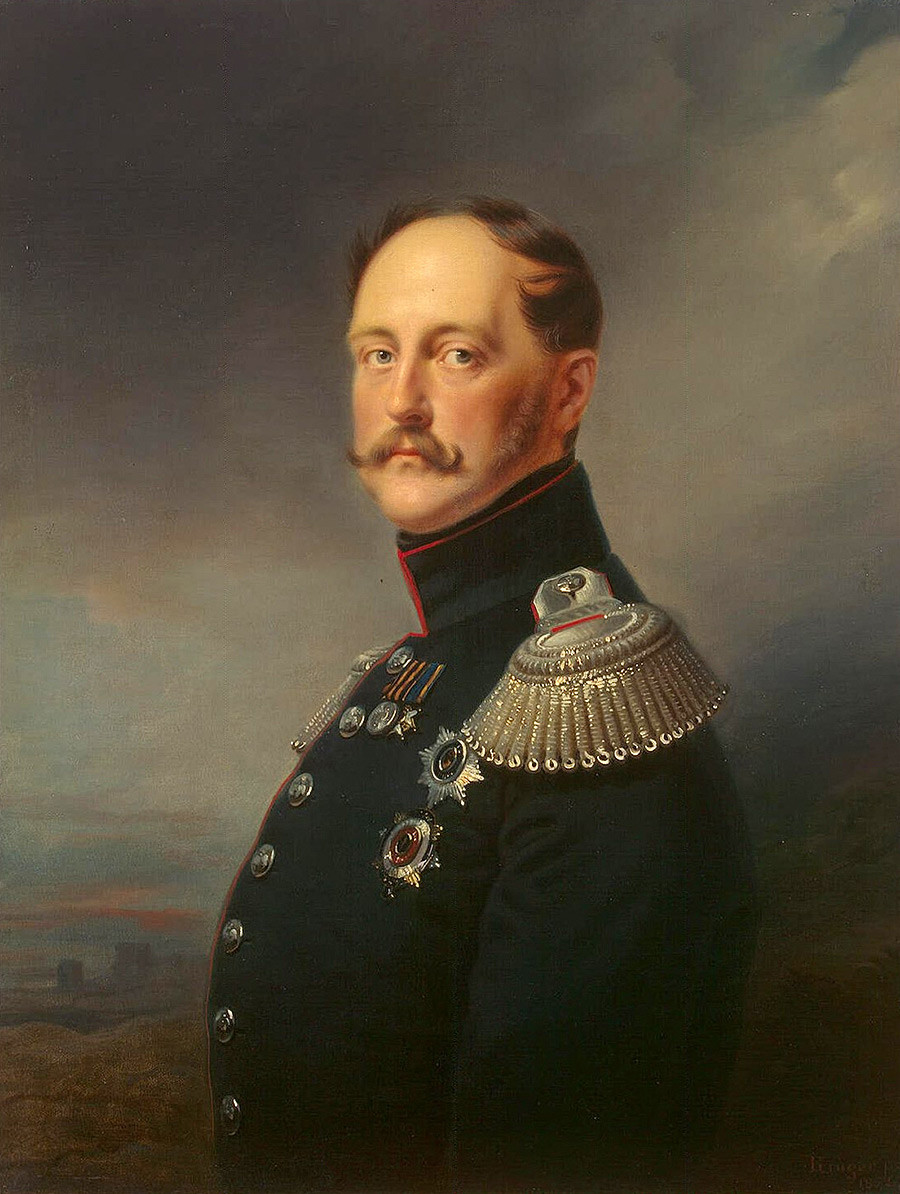 Портрет императора Николаја I, Франц Кригер.