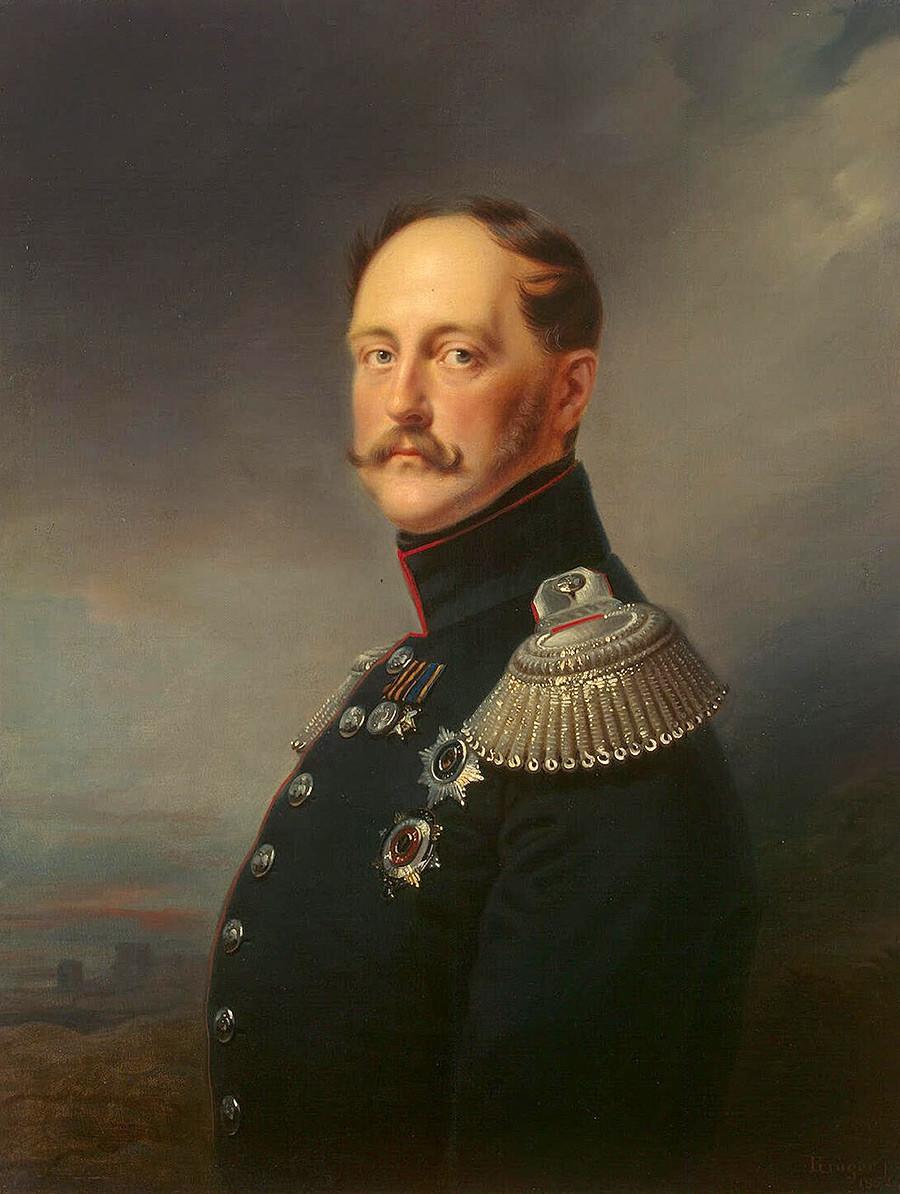 Портрет на император Николай I от Франц Крюгер