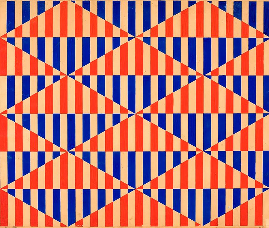 Варвара Степанова. Текстилен дизайн. 1924 г. Музей на изящните изкуства