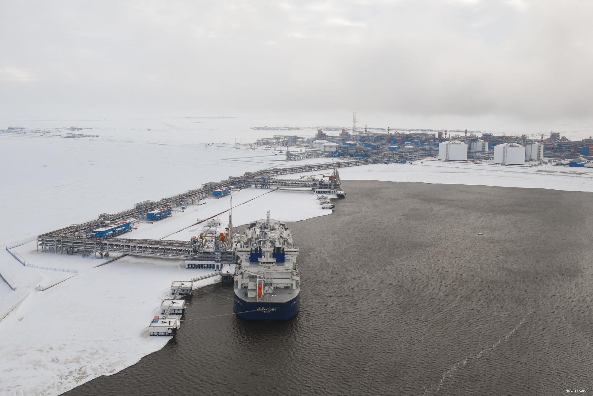 Planta de gas natural licuado de Yamal, situada en el Ártico.