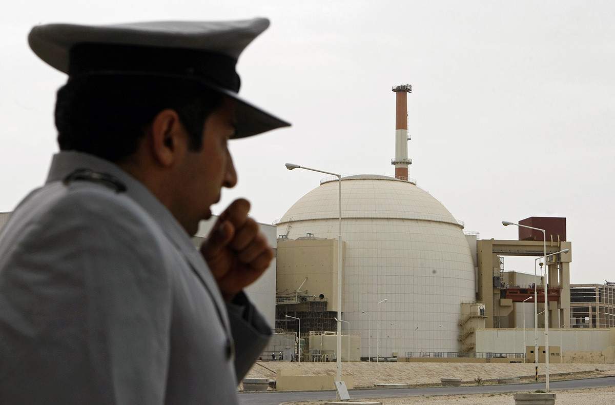 The Bushehr nuclear power plant that Russia is building in Iran.