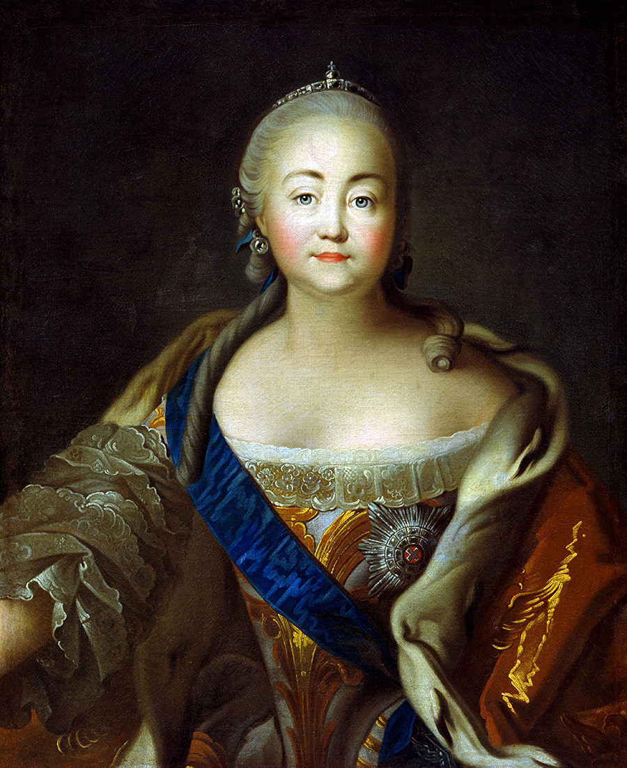 Portrait of Empress Elizabeth Petrovna (1709-1762) by Ivan Argunov