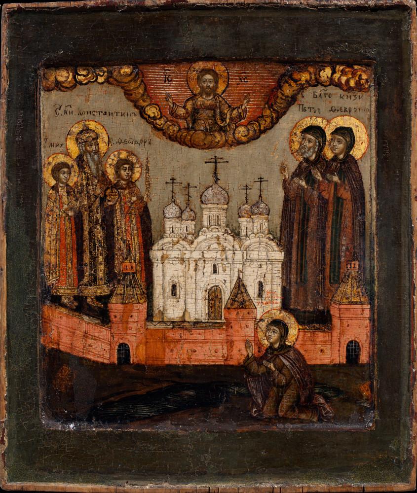 Ikona Sinaksa Muromskih svetnikov, 17. stoletje