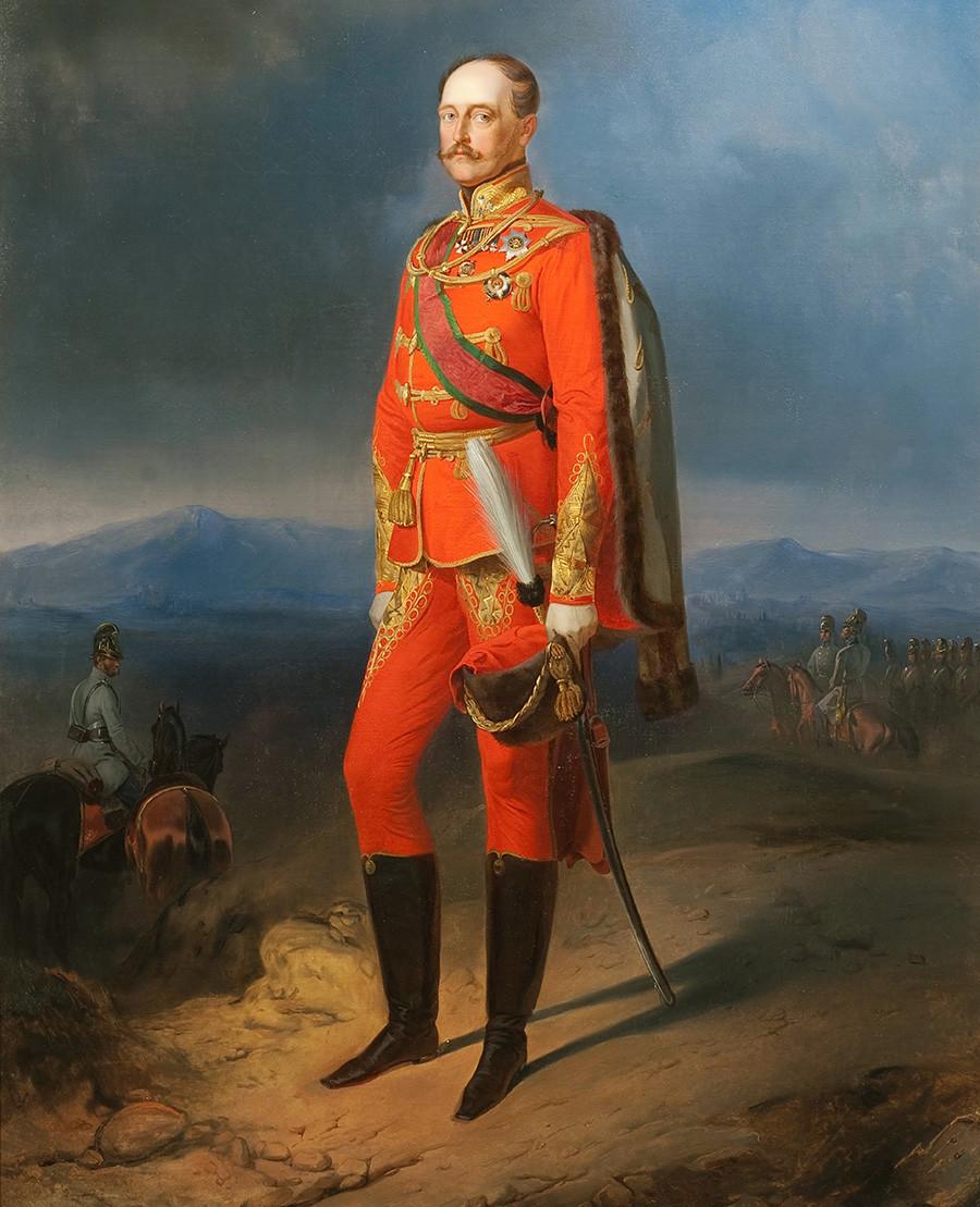 Portret carja Nikolaja I. (1796-1855) v avstrijski uniformi, štirideseta leta 19. stoletja