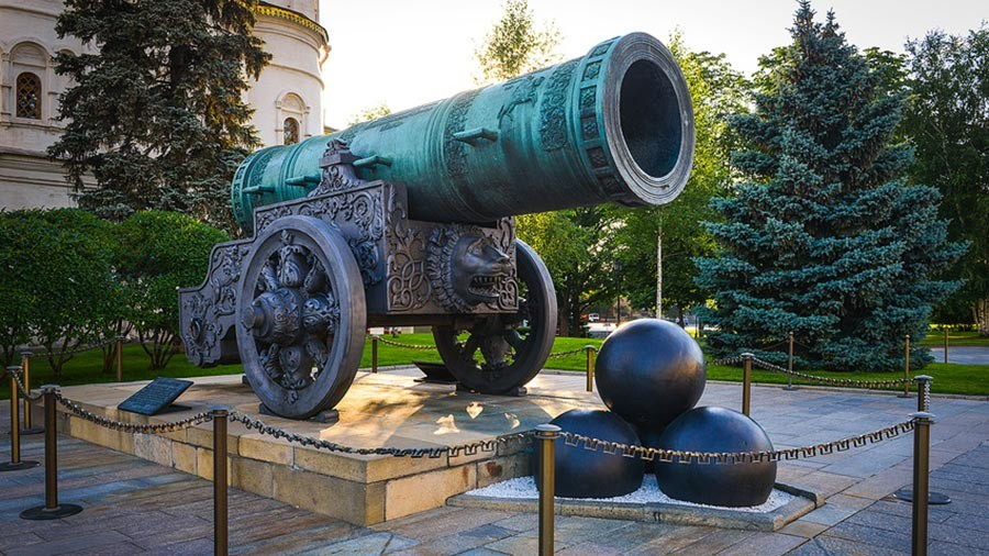 Tsar Cannon at the Kremlin.