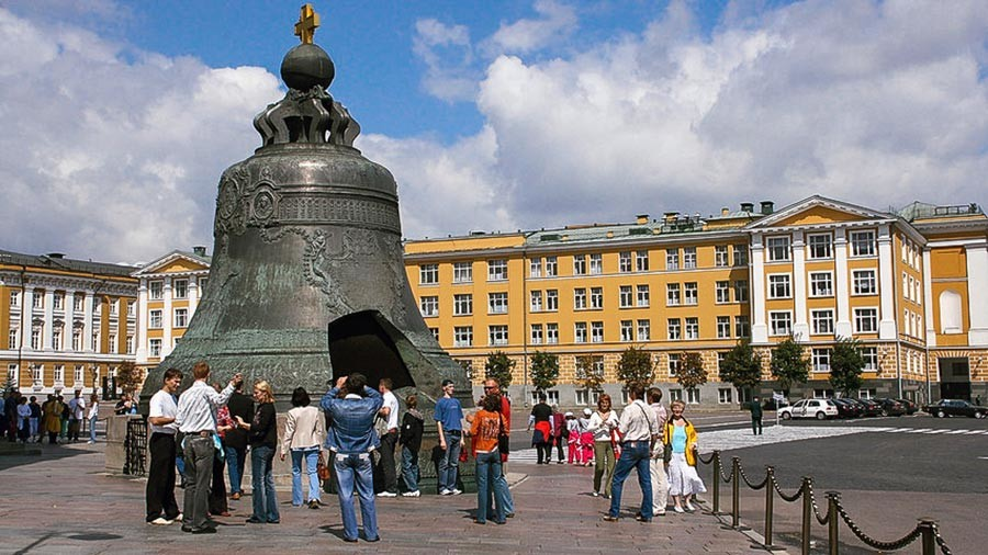 The Tsar Bell at the Moscow Kremlin.