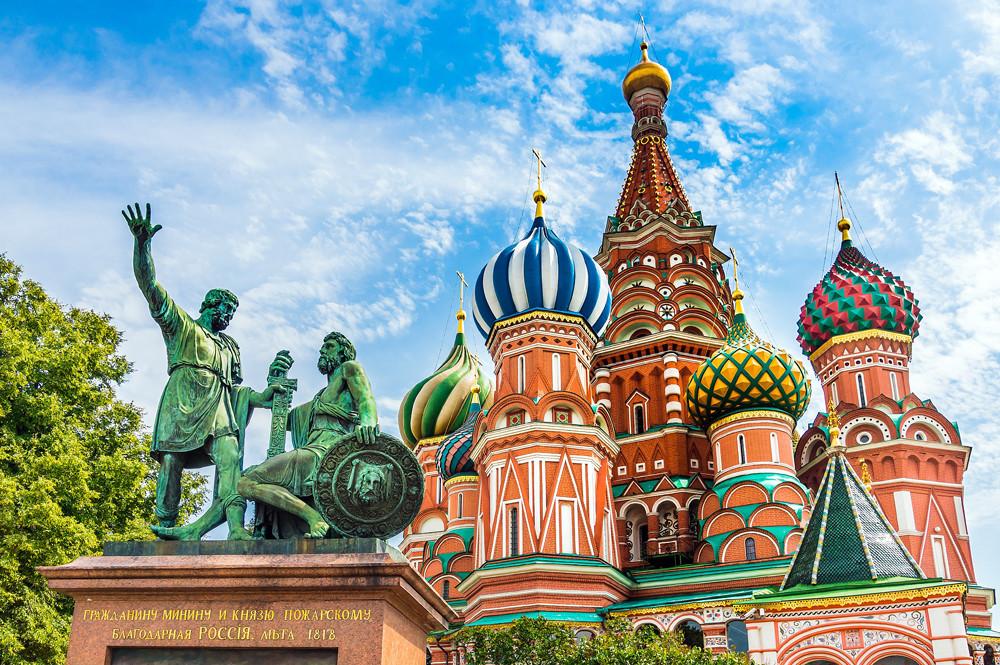 Katedral Saint Basil di Lapangan Merah, Moskow.