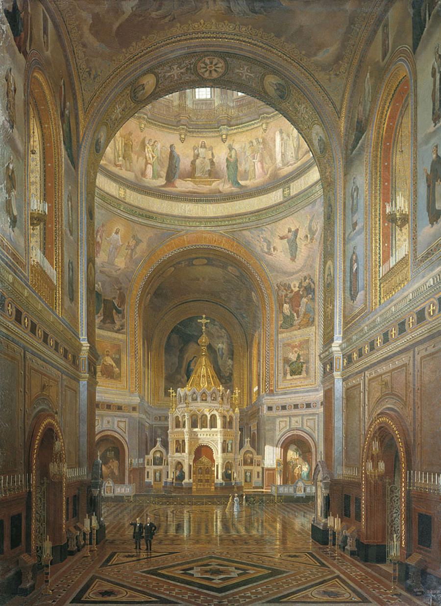 Федор Клагес. Внутренний вид храма Христа Спасителя (1883)