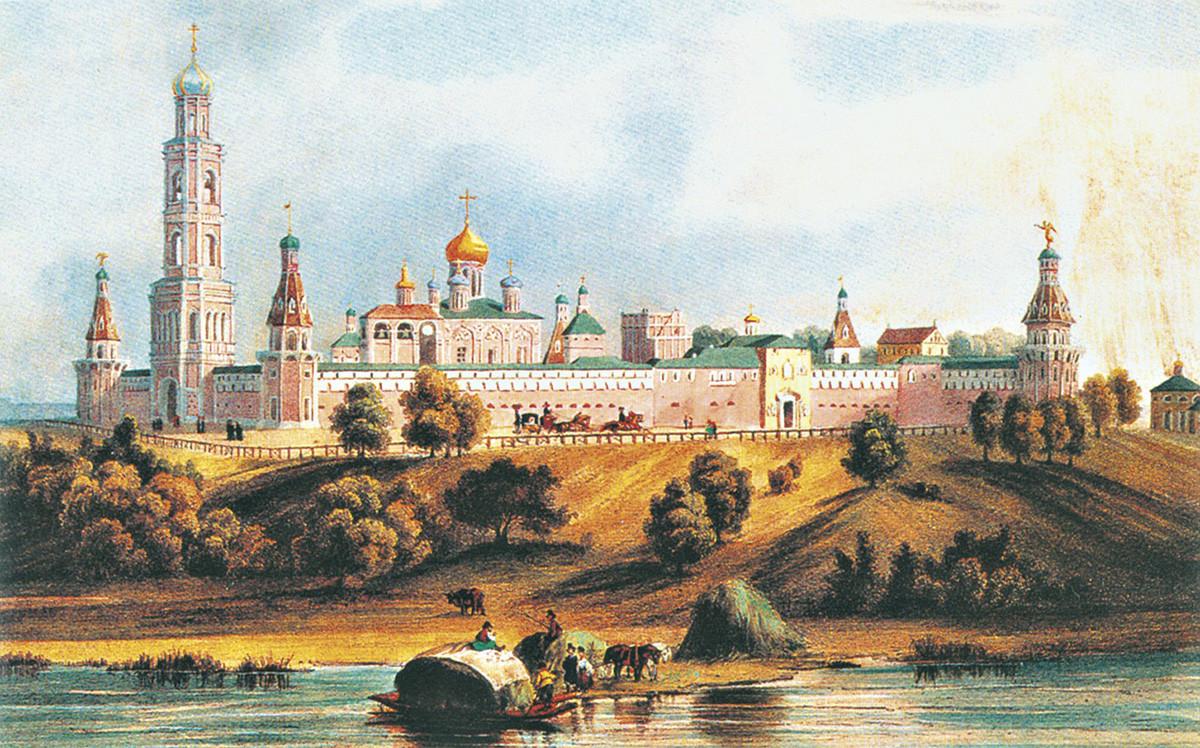 «Симонов монастырь». Литография Л. П. Бишбуа. 1846