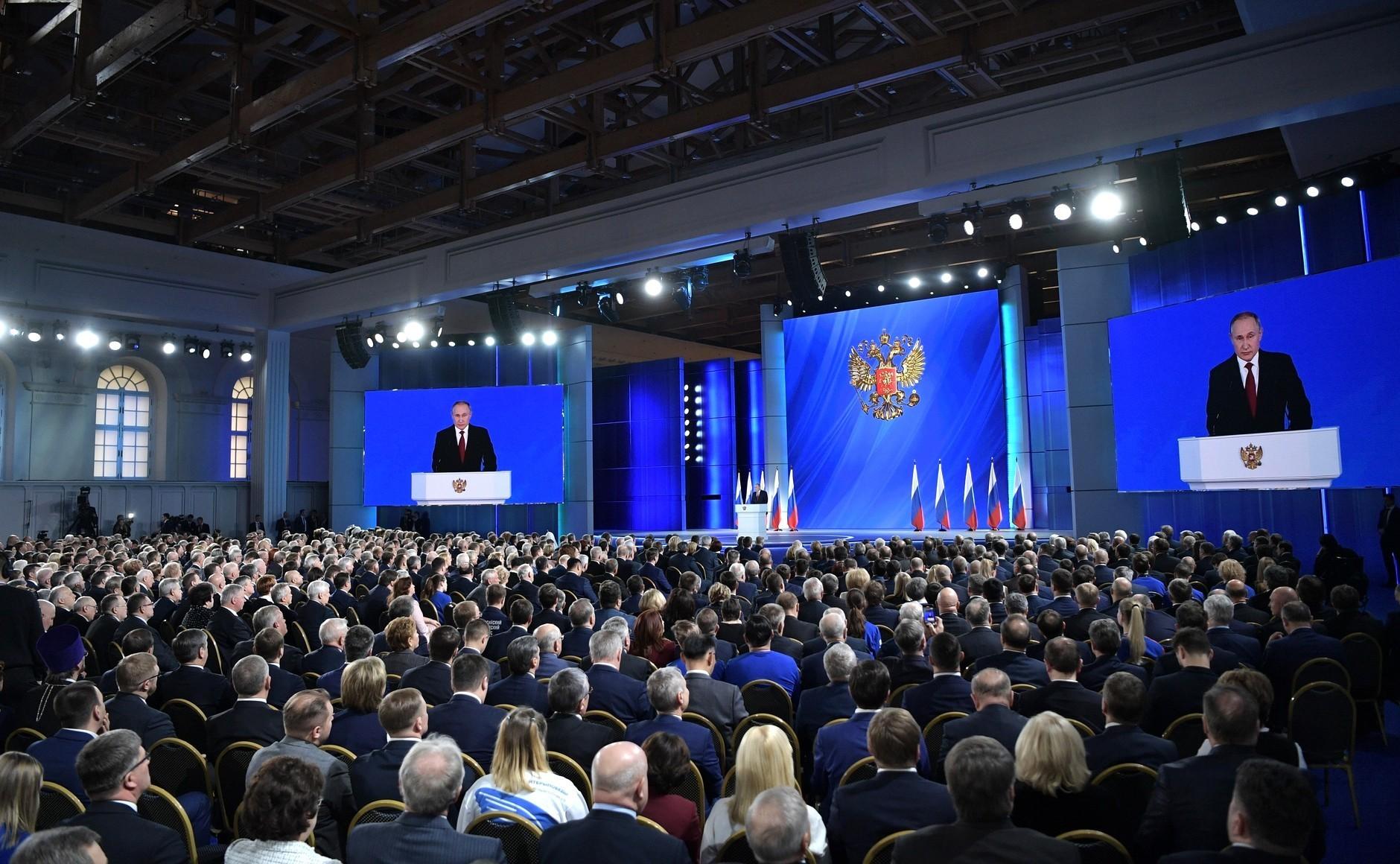 Obraćanje predsjednika RF Vladimira Putina Federalnoj skupštini, 15. siječnja 2020.