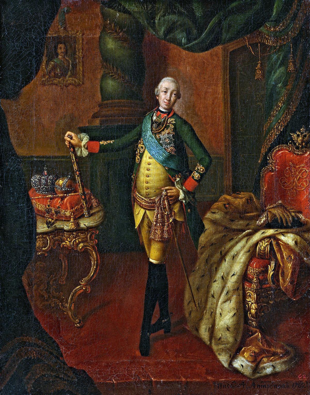 Петър III - император на Русия. Алексей Антропов