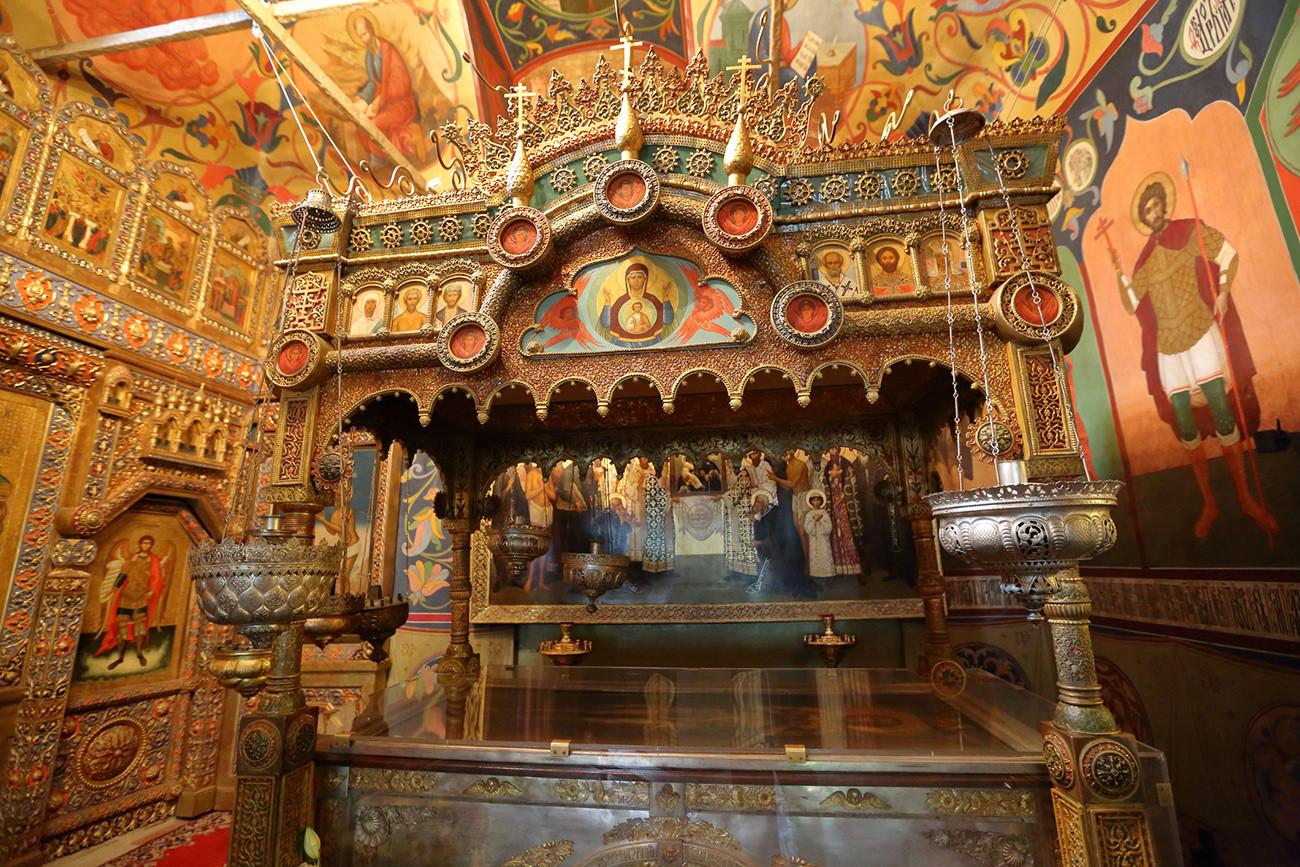 Унутрашњост Храма Василија Блаженог испред Кремља. Москва, Русија.