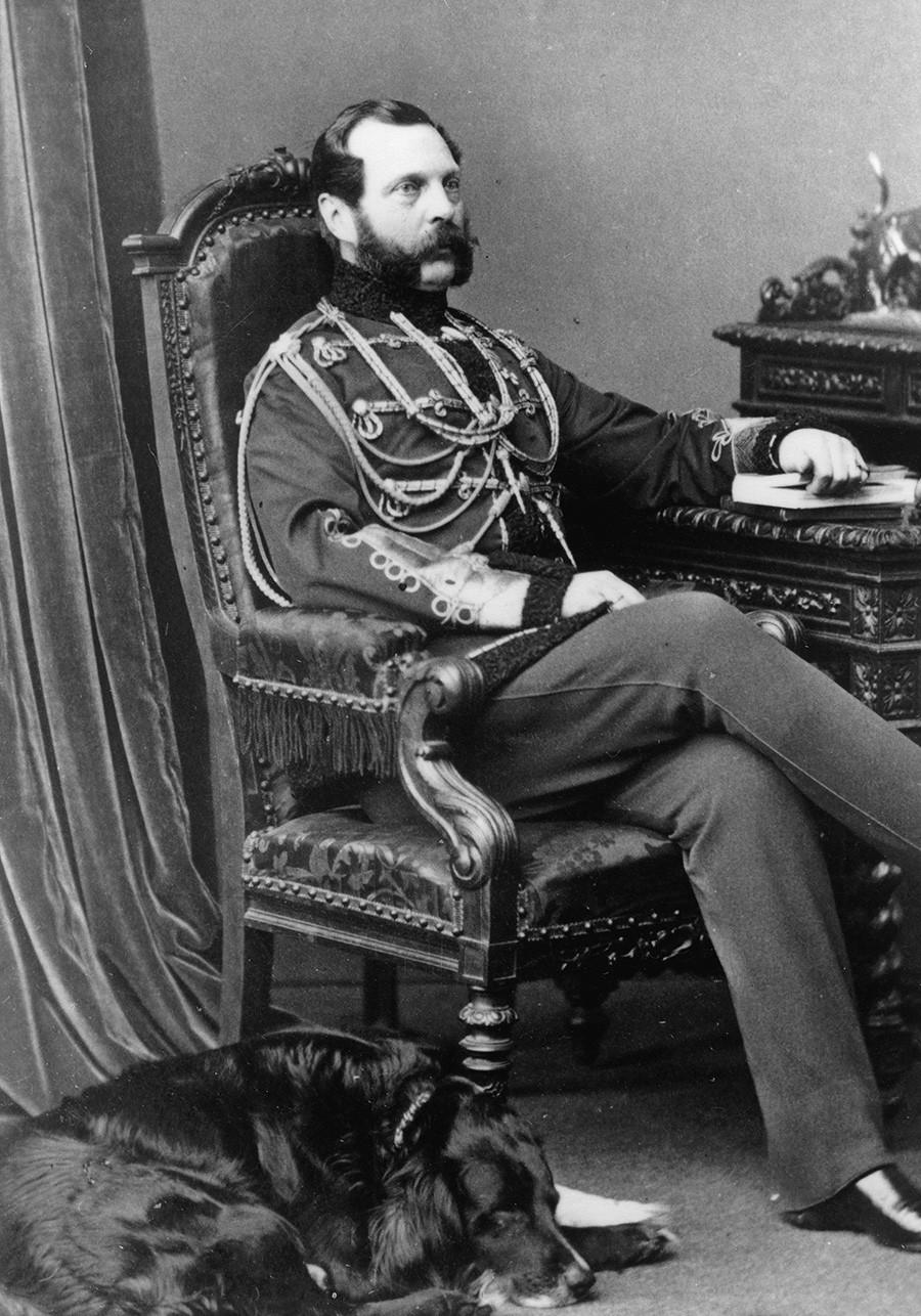 Tsar Aleksandr II (1818 -- 1881).