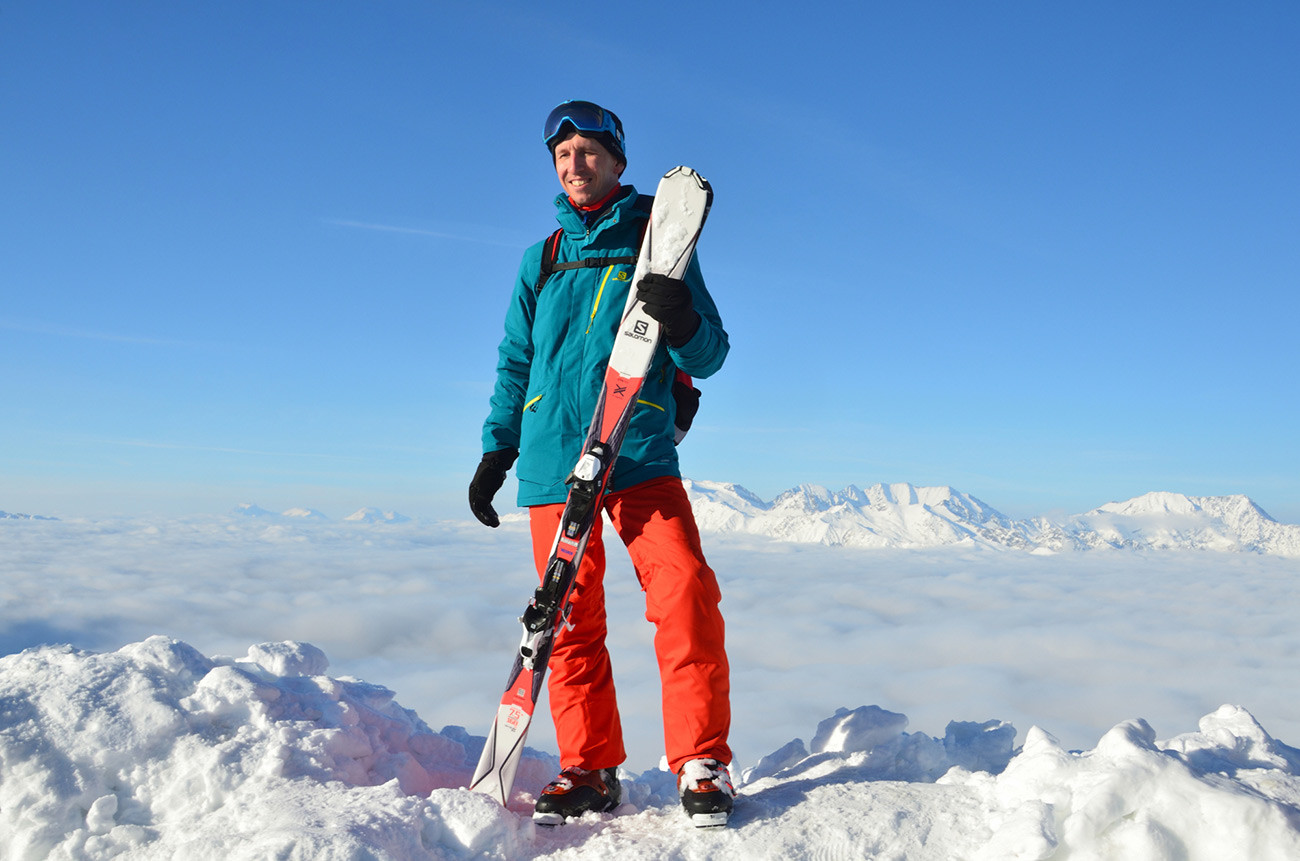 One of Rosa Khutor's guests on the slope.