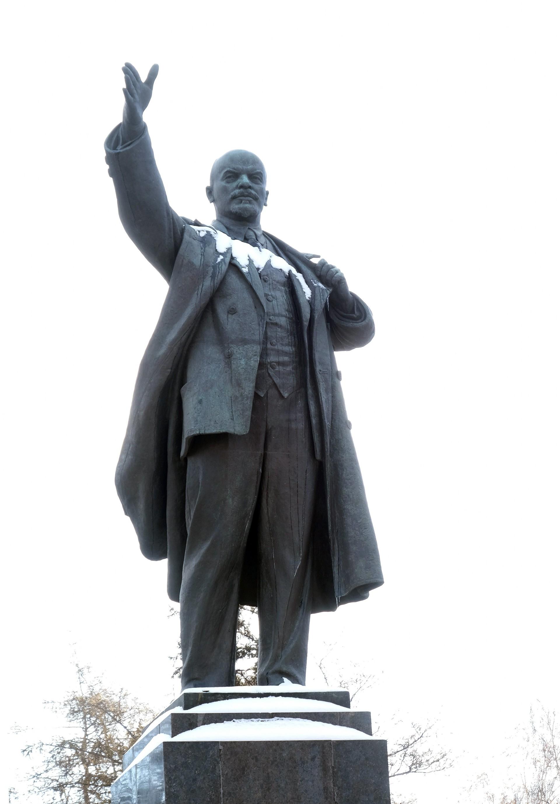 Patung Lenin di Irkutsk.