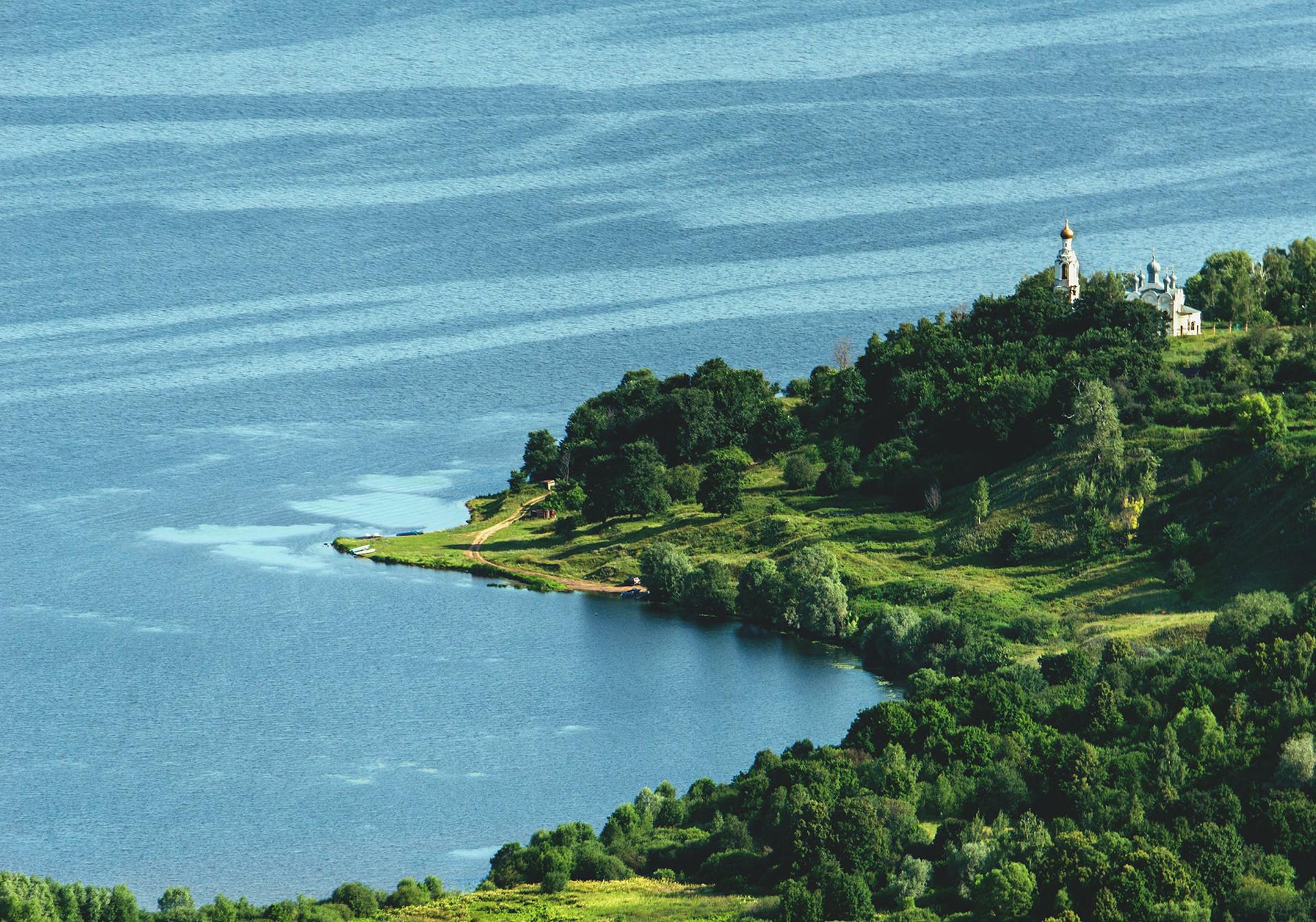 Pemandangan Republik Mari El, Rusia, dari atas.
