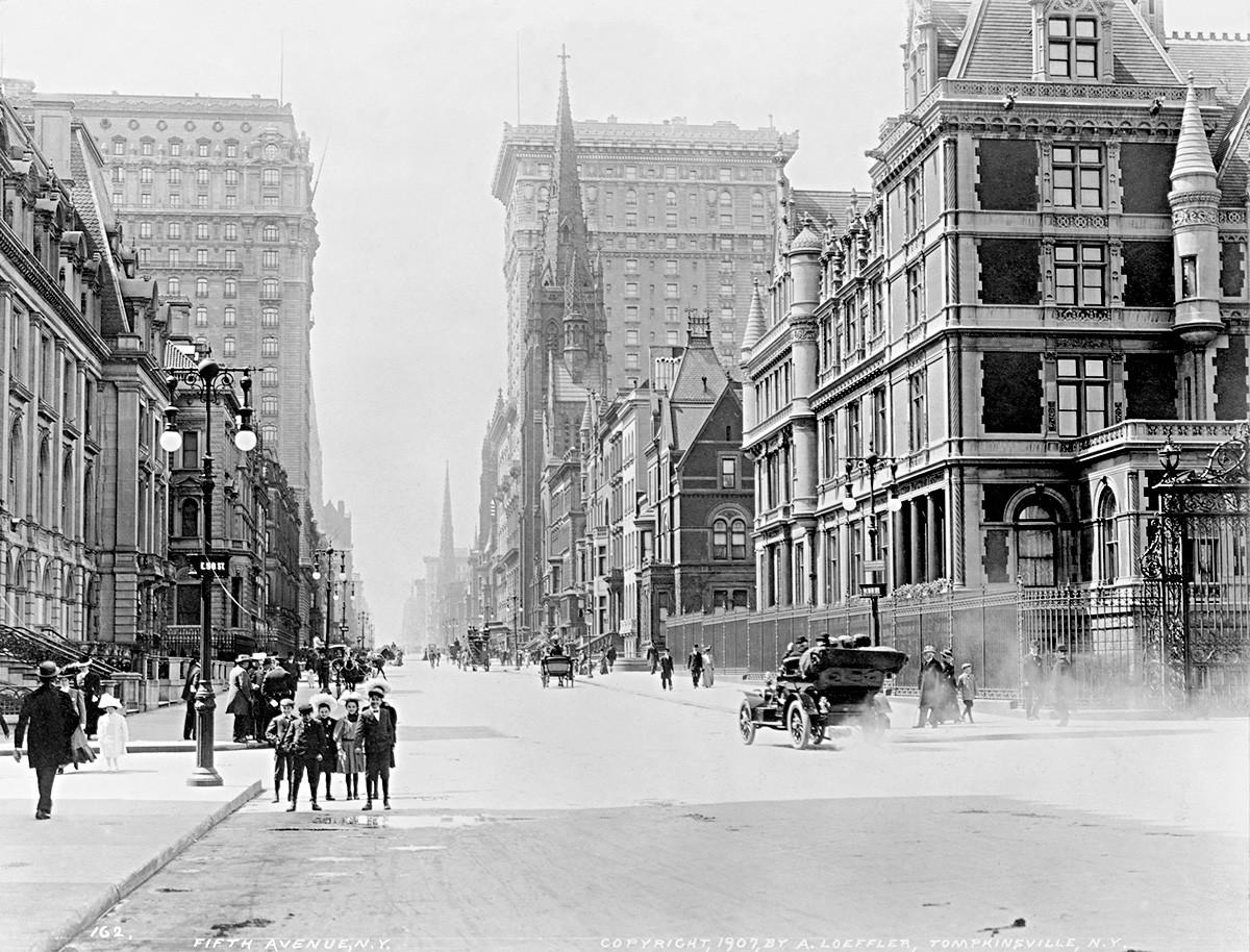 Пето авеню, Ню Йорк, 1907 г.