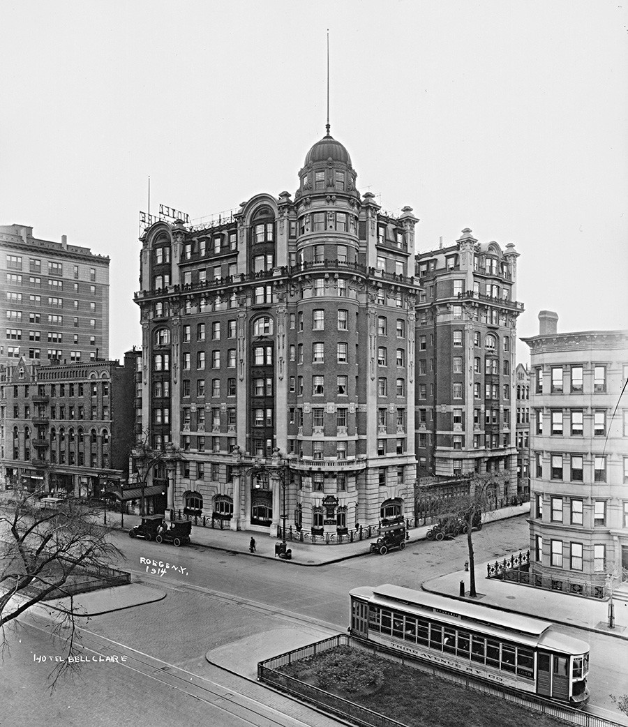 Hotel Belleclaire, vogal Broadwaya in 77. ulice, New York, 1914.