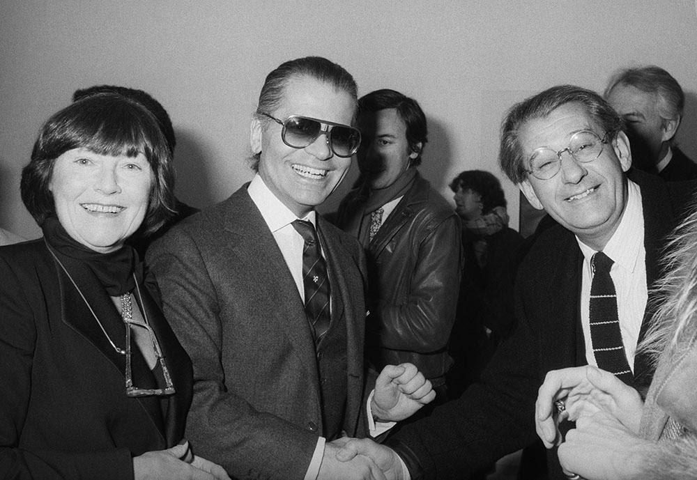 Karl Lagerfeld et Helmut Newton