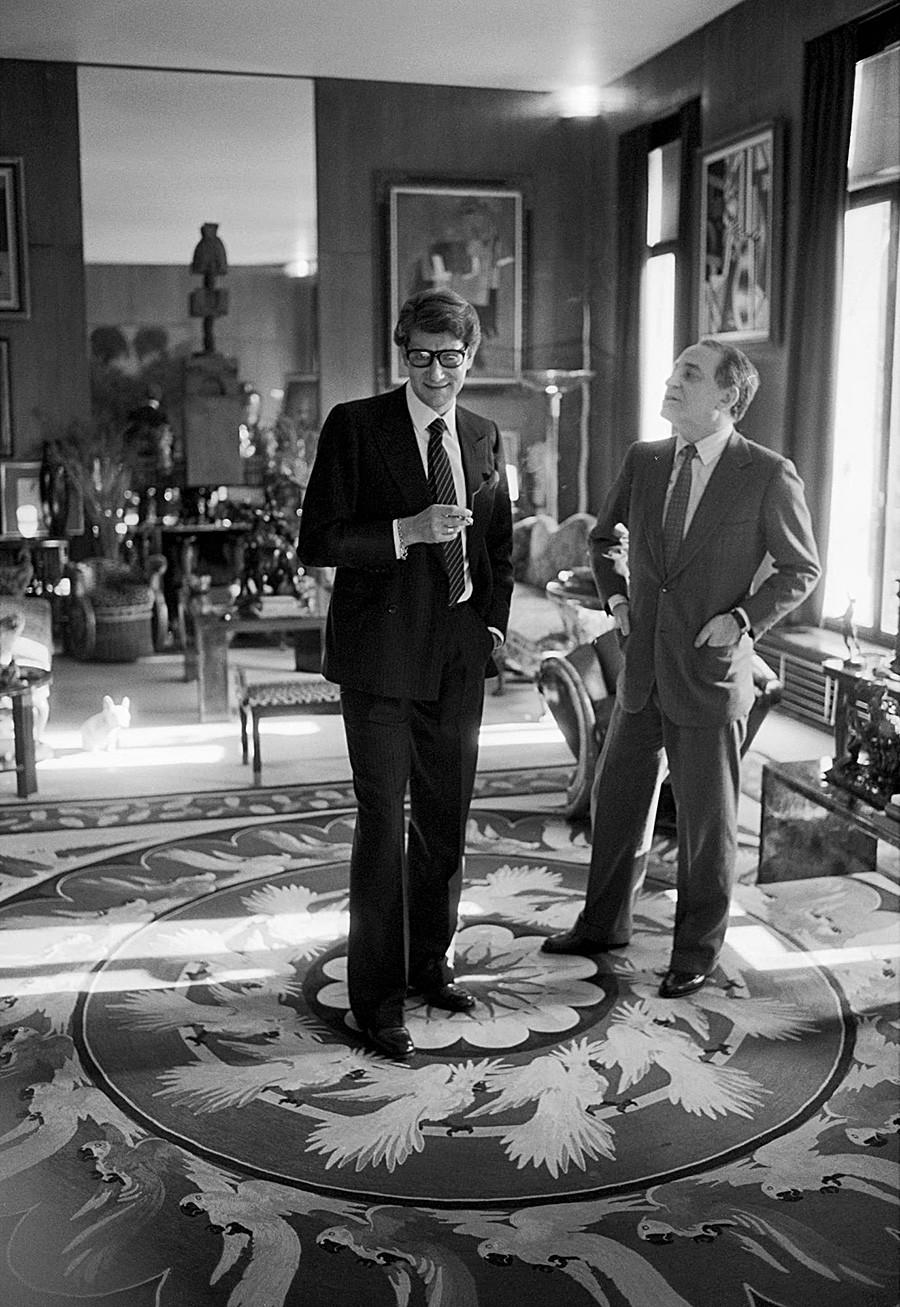 Yves Saint-Laurent et Pierre Bergé