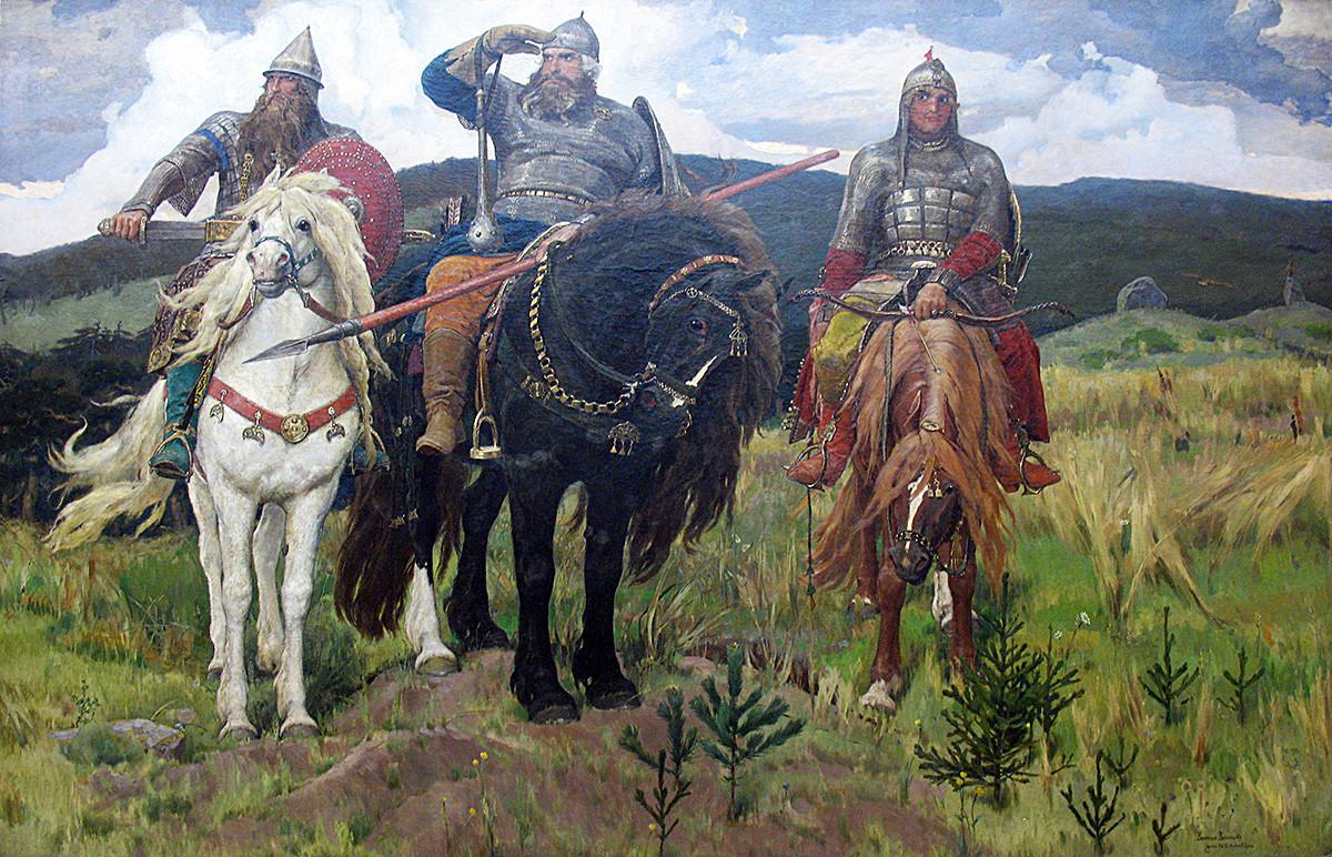"""Виктор Васњецов, """"Витезови"""" (1898)."""