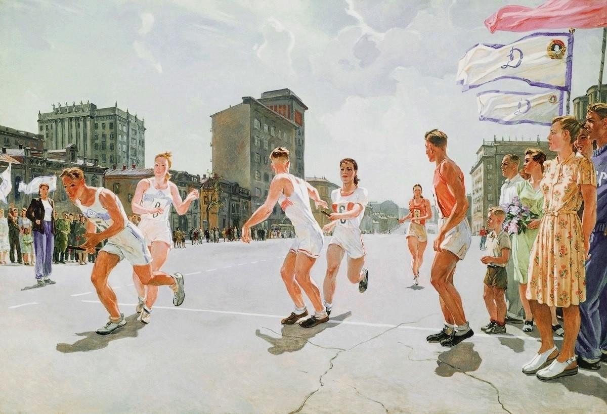 La course de relais sur la piste B, 1947