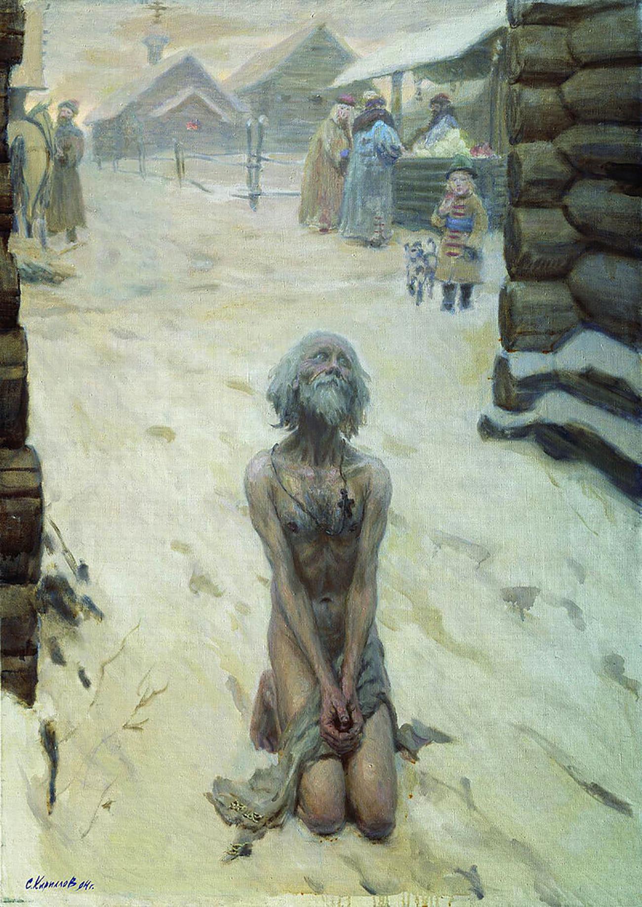 """Basílio, o Abençoado"", pintura de Serguêi Kiríllov, 1994"