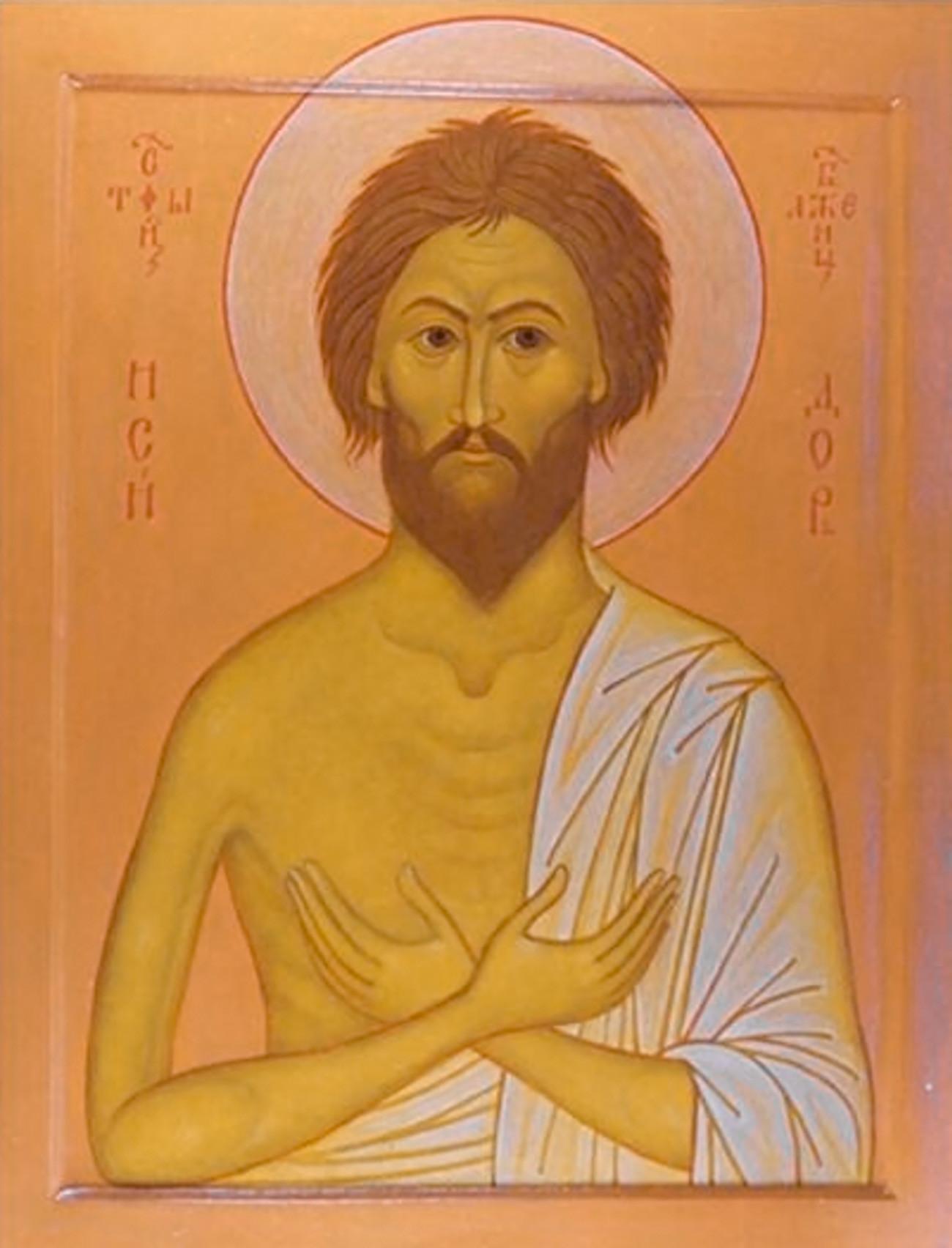 Ícone de Isidoro, o Abençoado.